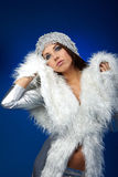 Winter woman, fantasy fashion Stock Photography