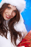 Winter woman with gifts. Stock Image