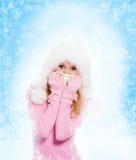 Winter woman royalty free stock photo