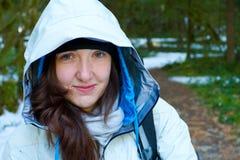 Winter Woman Hiker Royalty Free Stock Image