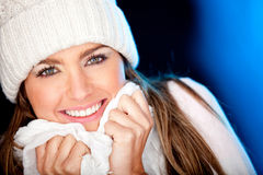 Winter woman portrait Royalty Free Stock Photo