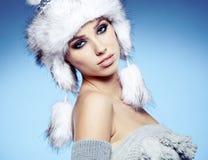 Winter woman portrait Royalty Free Stock Photos