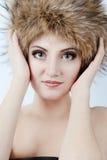 Winter woman portrait Stock Photo