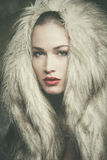 Winter woman portrait Stock Image