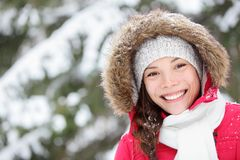 Free Winter Woman Portrait Outdoors Stock Images - 26939624