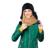 Winter woman portrait Stock Photography
