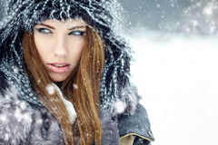 Winter woman portrait Stock Photography