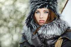 Winter woman portrait Royalty Free Stock Photography