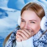 Winter woman's portrait Stock Photography