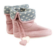 Winter woman slippers royalty free stock photo