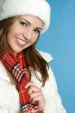 Winter Woman Smiling Royalty Free Stock Photography