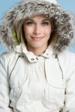Winter Woman Smiling Stock Image