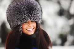 Winter women Royalty Free Stock Photo
