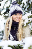 Winter women Royalty Free Stock Photos