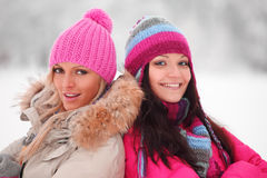 Winter women Royalty Free Stock Images