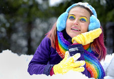 Winter women Stock Images