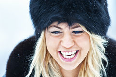 Winter women portrait Royalty Free Stock Photo