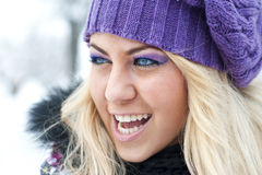 Winter women portrait Royalty Free Stock Photos