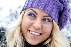 Winter women portrait Stock Photos