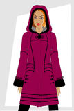 Winter women's clothes. Royalty Free Stock Images
