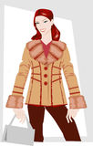 Winter women's clothes. Fashion winter women's clothes. Series of sketches Stock Photo