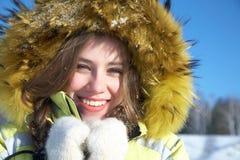 Winter wonan Royalty Free Stock Photography