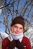 Winter Wonder. Young boy in winter apparel royalty free stock photography