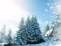 Winter wonderland. Amazing winter wonderland snow landscape royalty free stock photos