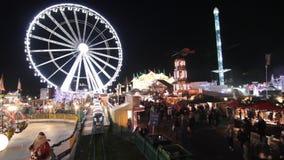 Winter Wonderland amusement park stock video footage