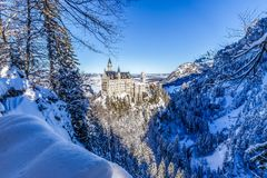 Free Winter Wonderland At Neuschwanstein Castle Royalty Free Stock Photography - 141198937