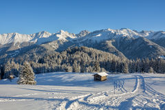 Winter Wonderland. In the Austrian mountains royalty free stock image