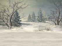 Winter Wonderland Background Royalty Free Stock Photo