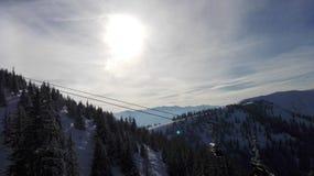 Winter Wonderland 2. Winter Wonderland and blue Sky stock photography