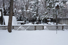 Winter Wonderland of Deep Snow. Deep snow turns a home landscape into a Winter Wonderland royalty free stock photography