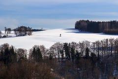 Winter wonderland in the Erzgebirge royalty free stock photography