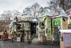 Winter wonderland, Hyde park London Royalty Free Stock Photo