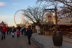 Winter Wonderland in Hyde Park, London Royalty Free Stock Photography