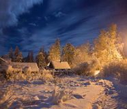 Winter Wonderland In The Village Stock Photo