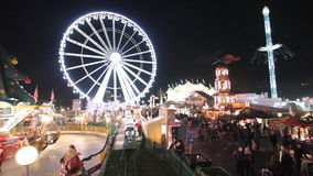 Winter Wonderland Christmas market in London stock video footage
