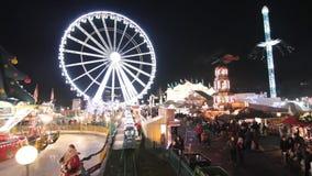 Winter Wonderland in London stock video footage