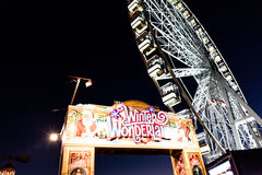 Winter Wonderland in London Royalty Free Stock Images