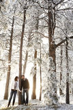 Winter wonderland love stock image