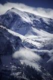 Winter Wonderland in Rocky Mountains Near Telluride Colorado Stock Photo