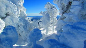 Winter Wonderland Scenery Landscape Mountain Top. Winter Wonderland Mountain Top snow forms shapes royalty free stock photos