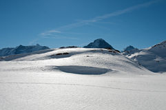 Winter wonderland snow covered mountains Royalty Free Stock Photos
