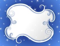 Winter Wonderland Swirls Stars Frame Royalty Free Stock Image