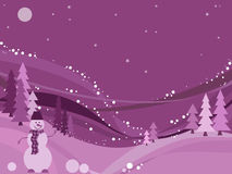 Winter wonderland, vector. Vector winter landscape.eps included Stock Photos