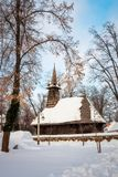 Winter Wonderland at the Village Museum in Bucharest royalty free stock image