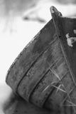 Winter wooden Rowboat. Wooden Rowboat wreck in the winter Royalty Free Stock Photography