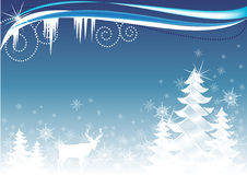 Free Winter Woodland Illustration Royalty Free Stock Photo - 10102715